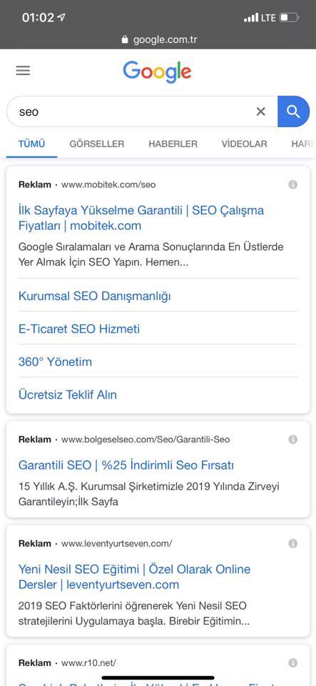 google mobil arama yenilendi