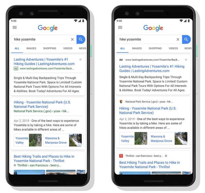 google mobil tasarım değişti
